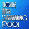 House with swimming pool logo